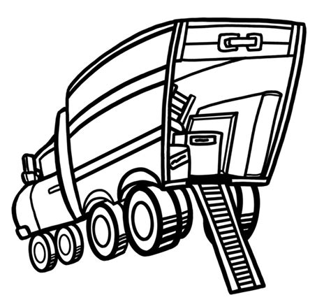 moving truck coloring page moving truck clip art cliparts co