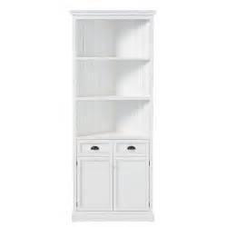 meuble d angle en pin blanc l 84 cm newport maisons du monde