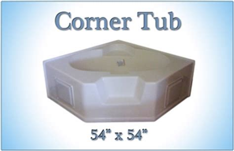 54 fiberglass bathtub 54 x 54 fiberglass replacement corner tub