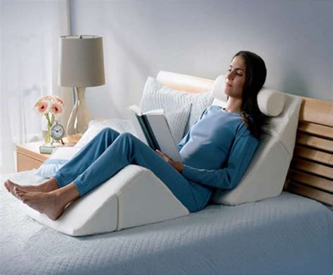 reading in bed pillow ergoprise ergonomic gift suggestion calendar day 15
