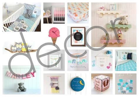 Handmade Baby Room Decorations - all about baby handmade decor finds for the nursery