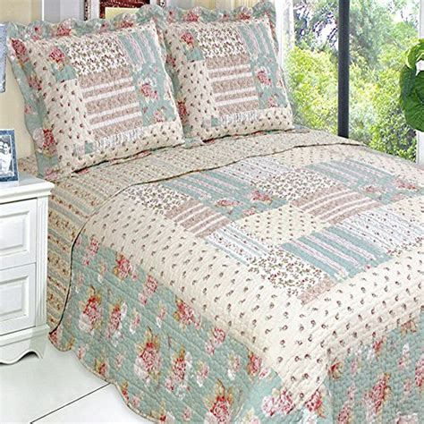Hypoallergenic Quilt by Quilt Coverlet Set Size Country Cottage
