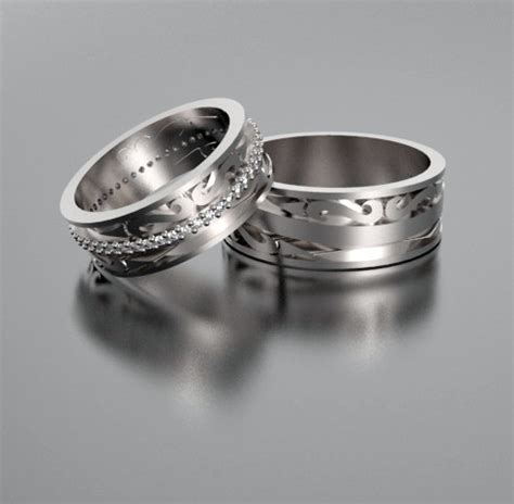 his and hers wedding bands with diamonds custom rings