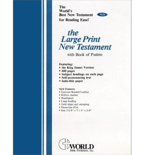 new testament with psalms print esv books large print new testament with the book of psalms kjv