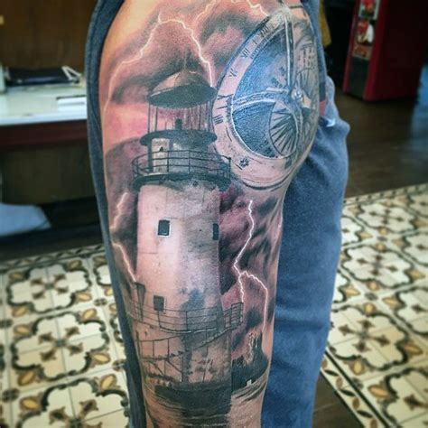 lighthouse tattoos designs 100 lighthouse designs for a beacon of ideas