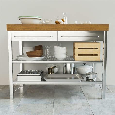 Kitchen Island On Wheels 3d models kitchen rimforsa worktable ikea