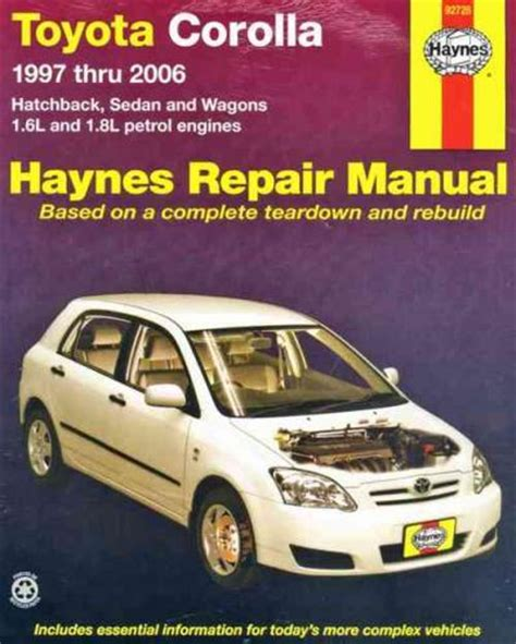 service manual 1997 toyota corolla workshop manual toyota corolla e11 haynes owners workshop manual