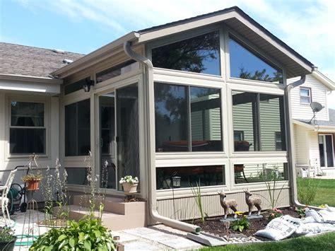 patio sunroom knee wall  seasons sunrooms windows