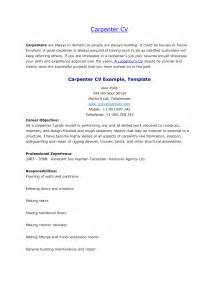 carpenter resume sle canada carpenter resume sales carpenter lewesmr