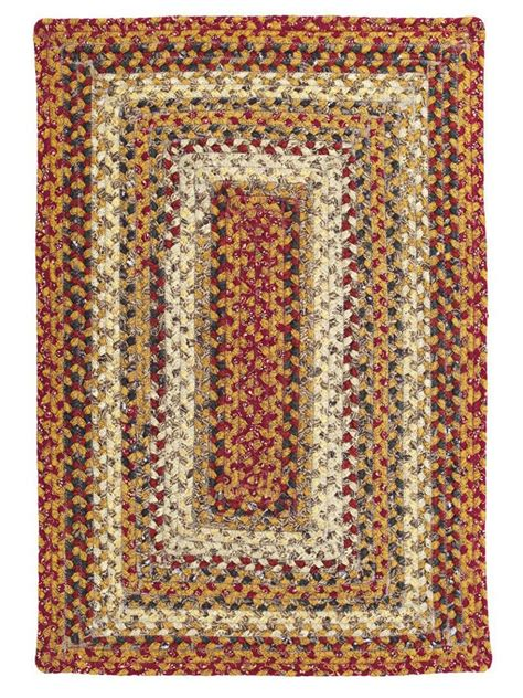 cotton braided rugs pumpkin pie cotton braided rug cottage home 174