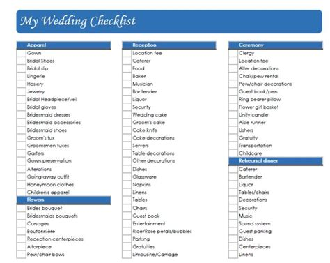 printable wedding checklist australia checklist for small simple wedding how to be a good
