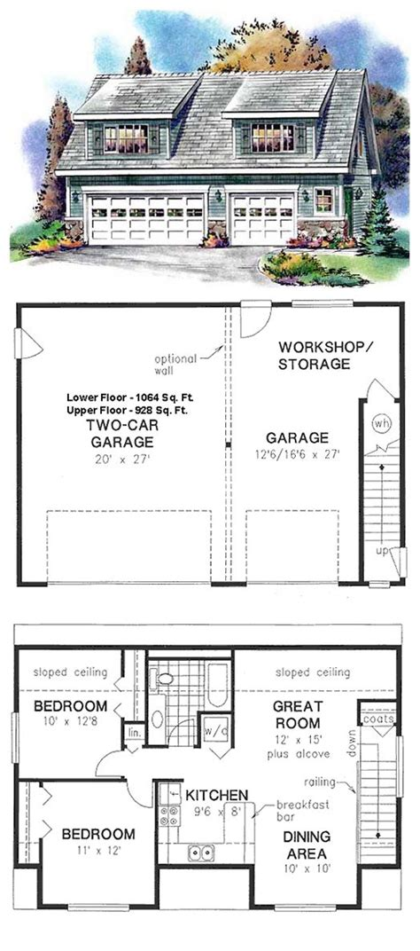 2 floor plans with garage best 25 garage apartment floor plans ideas on