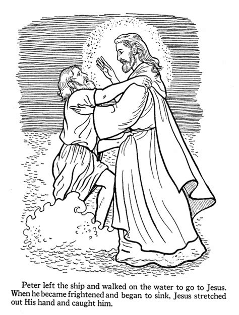 jesus walking on water coloring page az coloring pages