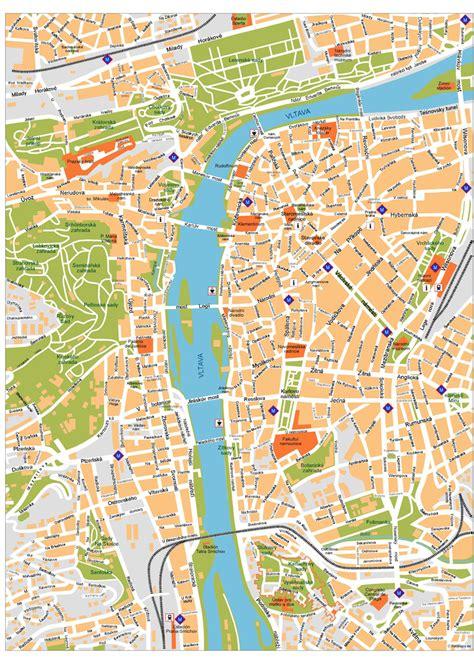 prague map prague vector maps illustrator freehand eps