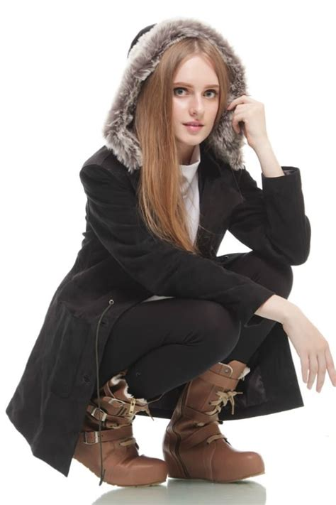 Terbaru Sarung Tangan Kulit Asli Bulu Untuk Musim Dingin Jepang jaket bulu musim dingin two toned detachable hooded coat jyb170522 coat korea