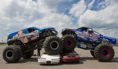videos of monster trucks crushing cars monster trucks are in the house ottawa citizen