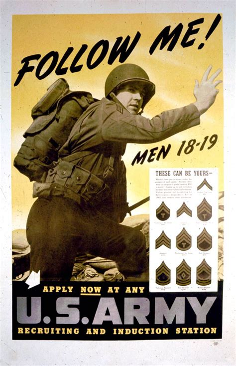 Come With Me Classic Thanksgiving Ae The Look by U S Army Follow Me Classic Ww2 Propaganda Retro Vintage