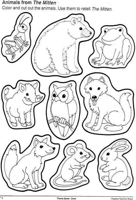 Free Coloring Pages Of The Mitten Is Red The Mitten Coloring Page
