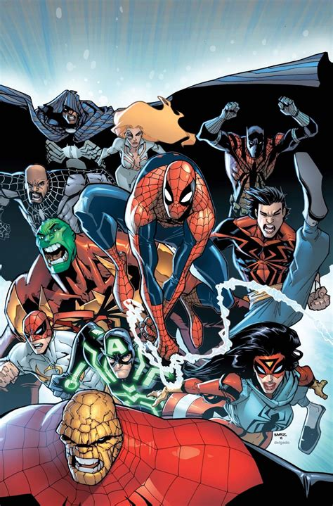 Promo Ultimate Book Of Space the amazing spider spider island summer preview