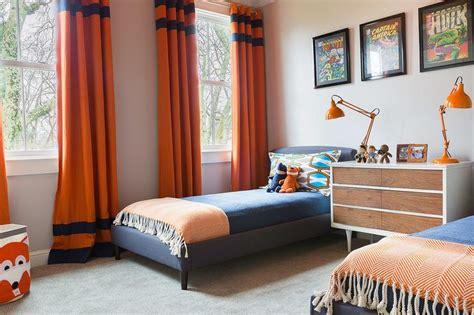 orange and blue bedroom blue and orange boys bedroom www imgkid com the image