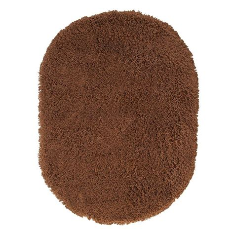 oval shag rug home decorators collection ultimate shag light brown 5 ft x 7 ft oval area rug 2987890580