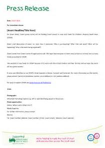 docs press release template fundraising tools children s hospice south west