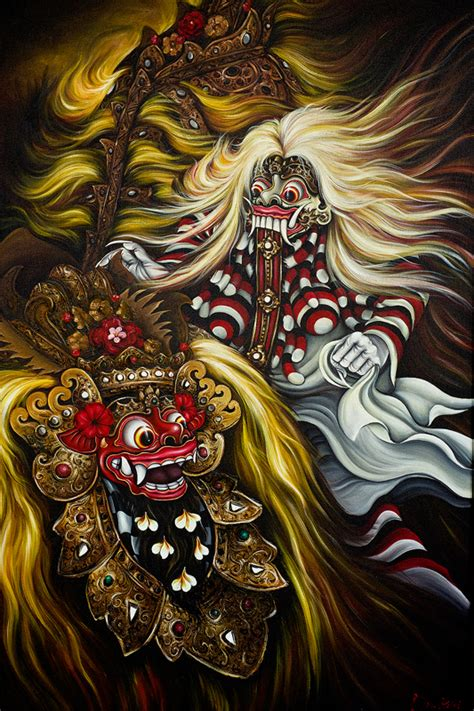 bali tattoo artist community barong and rangda by caravela art bali pinterest