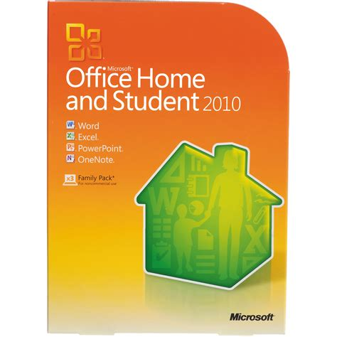microsoft office home and student 2010 software 79g 02144 b h