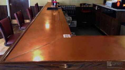 bar top molding copper bar top with wooden arm molding rest ma usa