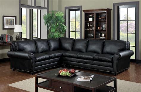 furniture of america sofa 6808 black nail head trim sectional sofa furniture of