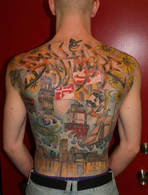 baltimore tattoos baltimore maryland themed back by garancheski