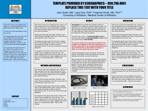 Research Poster 36 X 48 A Poster Presentation Template 36 X 48