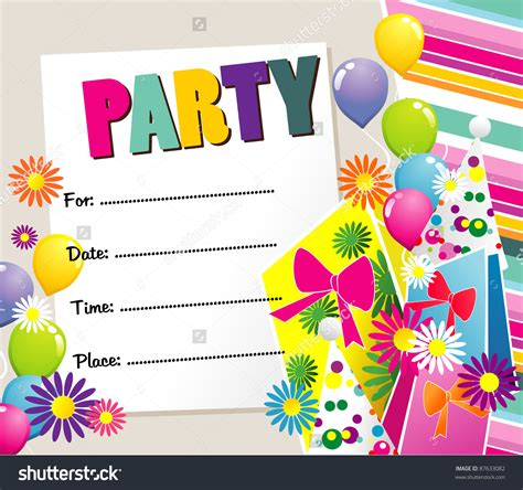free happy birthday invitation templates happy birthday invitation cimvitation