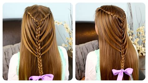 cute hairstyles with braids youtube waterfall twists into mermaid braid cute girls