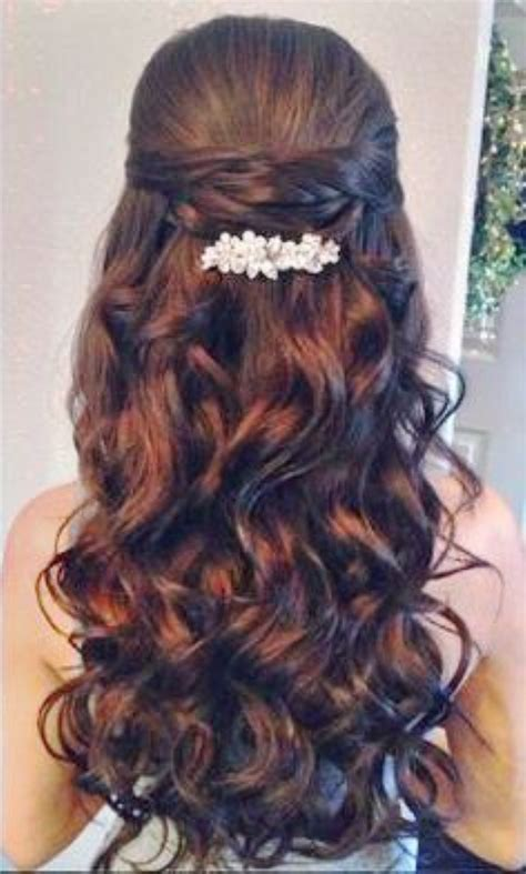 Hair Styles For Hair by Quinceanera Hairstyles With Curls And Tiara Hair