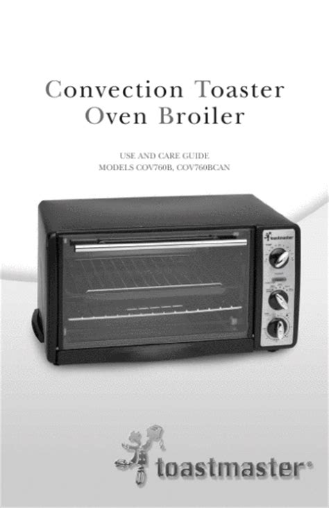 Toastmaster Toaster Oven Toastmaster Use And Care Guide Convection Toaster Oven