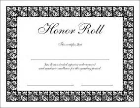 free honor roll certificate template free downloadable pdf certificates awards teachnet