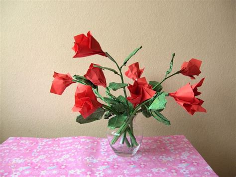 Origami Roses With Stems - origami stems 171 embroidery origami