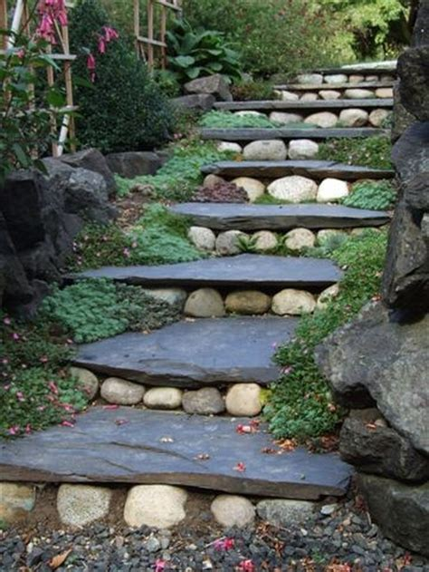 Rock Garden Steps Landscape Design Garden Stairs Diy Home Decor