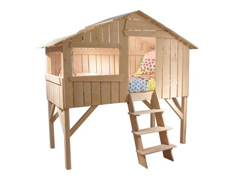 Treehouse Bed In Natural Lime Wood From Mathy By Bols Tree House Bunk Bed Plans