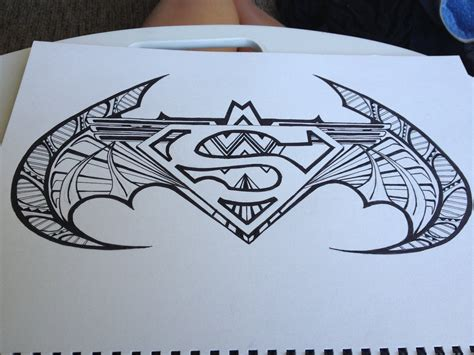 superman and batman symbol drawing clipartsgram com