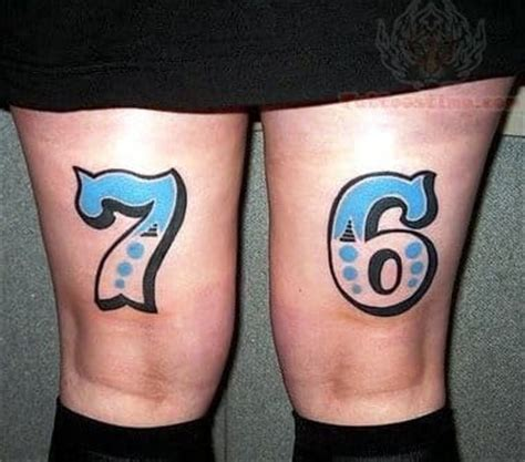cross tattoo with numbers 11 fun famous tattoos of numbers tattoodo