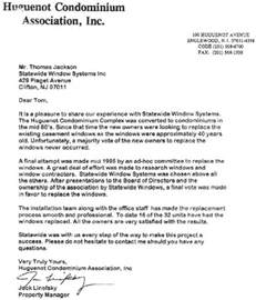 Homeowners Association Letter Templates by Statewide Windows A Better Way To Buy Windows