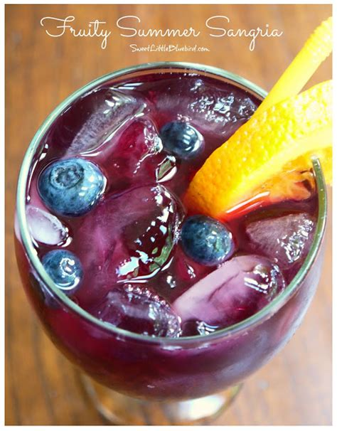 sweet little bluebird fruity summer sangria