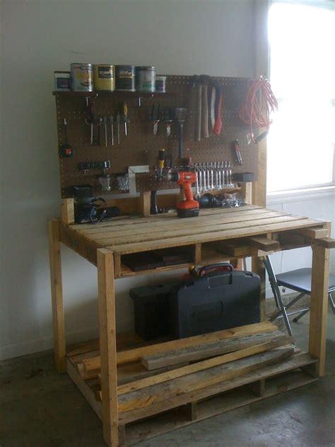 pallet work bench pallet workbench furniture pinterest crafts the o