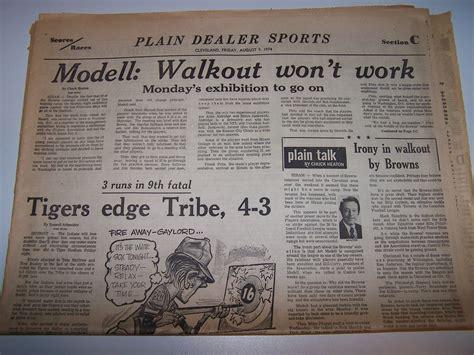 cleveland plain dealer sports section cleveland browns football team walkout 1974 cleveland