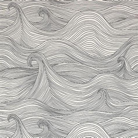 wave pattern sketch vagues design drawing waves ocean lines pen