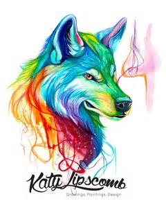 colorful wolf colorful wolf day 214 8x10 print 183 katy lipscomb