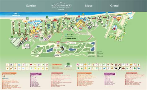 moon palace sunrise section map moon palace cancun mexico