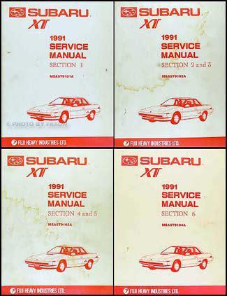 service manual online service manuals 1988 subaru xt transmission control service manual 1991 subaru xt repair shop manual original 6 section 4 book set